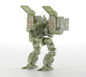 3D model Mecha CPLT-C1 Catapult -- BattleTech MechWarrior Universe --