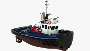 Tugboat Edward L 3D model