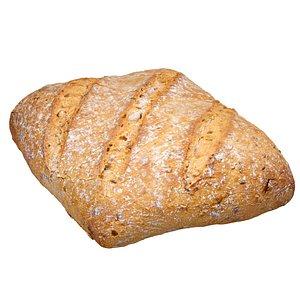 3D bread scan model