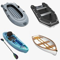 Inflatable boat kayak rowing pack