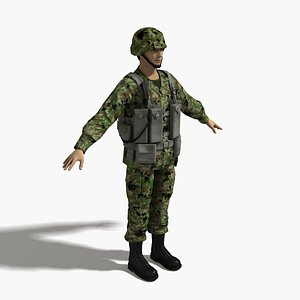 japan self defense forces 3D