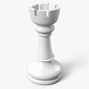 3D chess rook pbr