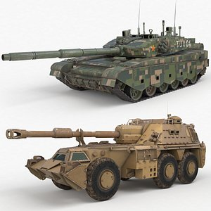 Tank Armoured Collection Vray 008 3D model