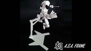 3D Print - ASA Action Figure Frame model