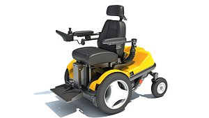 Electric Power Wheelchair 3D model