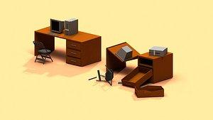 3D desk pc post