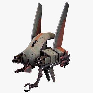 3D drone sci-fi pirate
