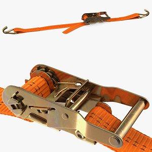 3D model Ratchet Strap Fastened