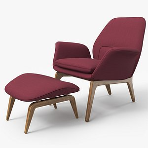 3D Lounge Chair Violet - PBR model