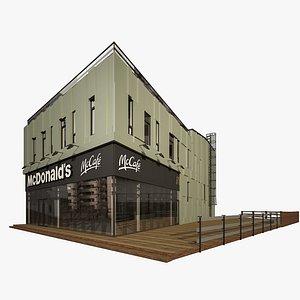 3D model mcdonald s restaurant