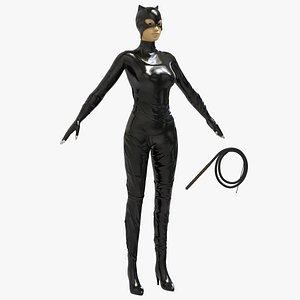 3D Catwoman Uniform Suit