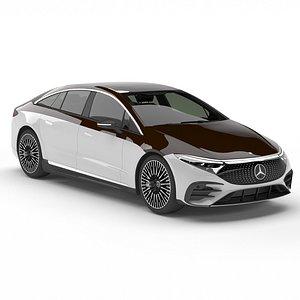 3D Mercedes-Benz EQS model