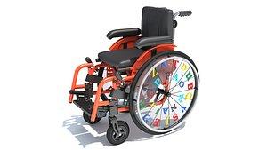 Wheelchair Wheel Chair for Kids 3D model