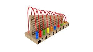 wooden calculator 3D model