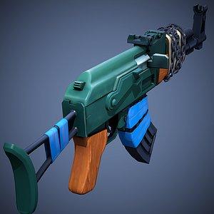 3D model Stylized AK-47 Low Poly