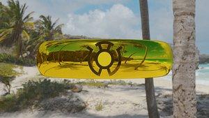Yellow Lantern Sinestro Corp Ring 3D model