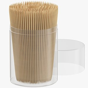 tooth toothpick pick 3D