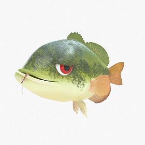 3D Cartoon Bass model