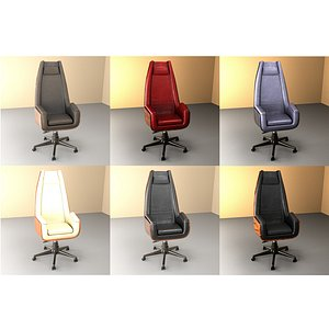 Office Chair Full Set 3D model