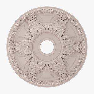 3D model Classic Ceiling Medallion 14