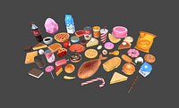 Low Poly Food Pack 3