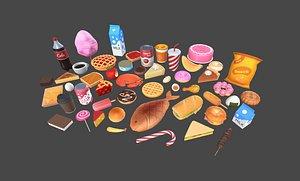 3D pack food model