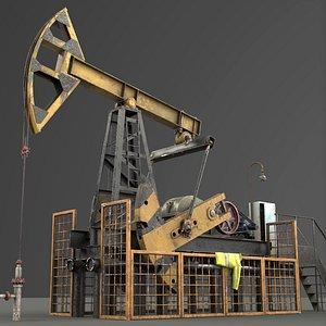 3D oil pump jack
