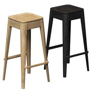 Tonic bar stools 3D model