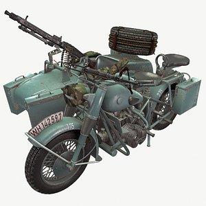 german motorcycle war 3D