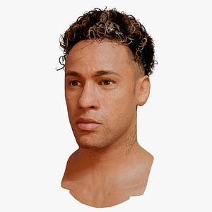 Neymar Jr Junior  soccer player head 3d model 3D model