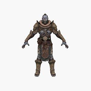 3D Warrior Ogre