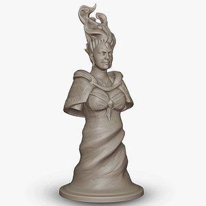 Queen Lina Dota 2 Chess Piece print model 3D