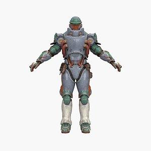 3D commander iron model