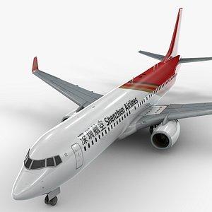 boeing 737-8 shenzhen airlines 3D