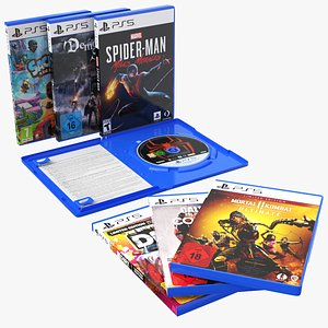 PS5 DVD Cases Collection 3D