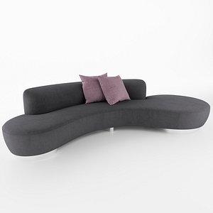 serpentine sofa vladimir 3D model