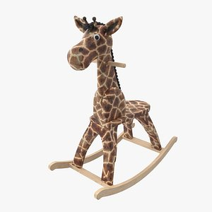 rocking giraffe 3D model