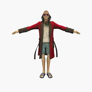 3D Rich Man model