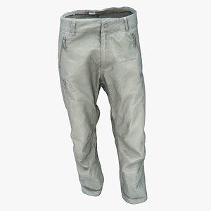 3D model pants trousers clothing