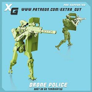 drone police 3D model