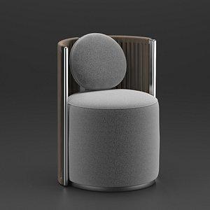 3D armchair fendi model