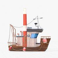 Cartoon Mini Boat 3