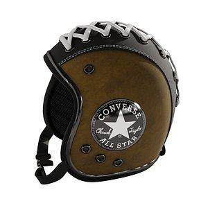 3D Leather helmet 4