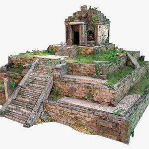 3D Aztec Maya Inca Tikal Pyramid Temple model