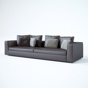 minotti sofa powell 3D