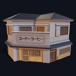 3D Japanese Corner Shop model