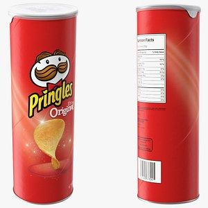 3D Pringles Original Potato Chips Can