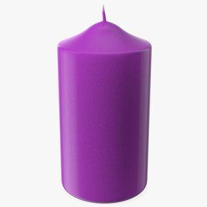 Dome Top Pillar Candle Purple 3D model