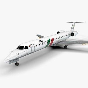 3D Portugália Airlines EMBRAER ERJ 145 L1364 model