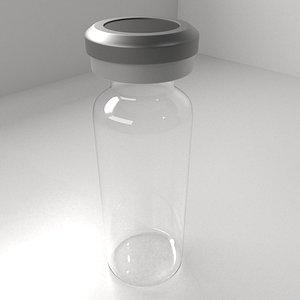 Vaccine Bottle 3D